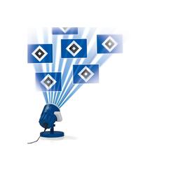 HSV LED Motivstrahler, mit HSV-Logo