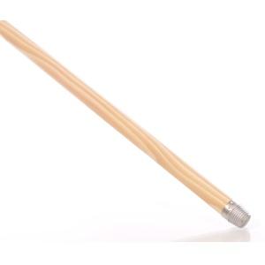Besenstiel, Holz, Besenstab mit Schraubgewinde, Länge: 140 cm, Durchmesser: 23.5 mm