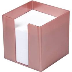 Zettelbox 9,5x9,5x9,5cm 700 Blatt weißes Papier rosegold