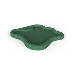 Bac à douche vert lac pour le jardin cm 107x103x9 ARKEMA DESIGN - prodotto made in Italy