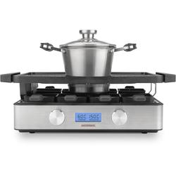 Gastroback Raclette und Fondue-Set 42561 Design Advanced, 9 Raclettepfännchen, 2150 W