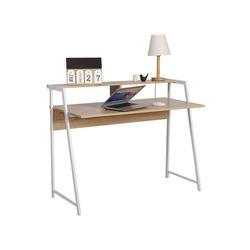 Woltu Schreibtisch, Schreibtisch Computertisch mit Ablage in Eiche