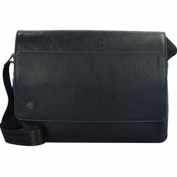 Piquadro B2S Messenger Leder 37 cm Laptopfach blue