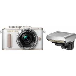 Olympus E-PL8 Systemkamera (14-42mm EZ Pancake, 16,1 MP, WLAN (Wi-Fi), Makroaufnahme, HDR-Aufnahme, 3D, Gesichtserkennung) weiß