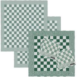 DDDDD Geschirrtuch Barbeque, (Set, Combi-Set: bestehend aus 1x Küchentuch, 2x Geschirrtuch & 2x Topflappen) grün