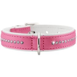 Halsband Modern Art Luxus pink/weiß 37