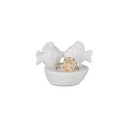 formano Teelichthalter Teelichthalter Keramik FISCH weiß (1 Stück)
