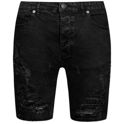 BRAVE SOUL Morton Denim Herren Ripped Jeans Shorts MSRT-MORTON - S