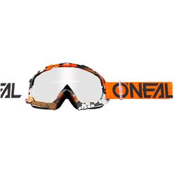 ONeal B-10 S18 Pixel, Crossbrille - Orange/Weiß Klar