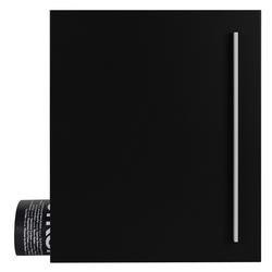 MOCAVI Briefkasten Design-Briefkasten mit Zeitungsfach schwarz (RAL 9005) MOCAVI Box 110 Wandbriefkasten 12 Liter