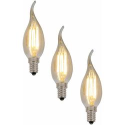 näve LED Leuchtmittel E14 Kerze LED-Leuchtmittel, E14, 3 Stück, Warmweiß, Set - 3 Stück