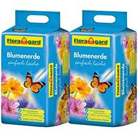 Floragard Blumenerde einfach leicht 2 x 25 l