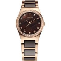 BERING Damen-Armbanduhr Analog Quarz Edelstahl 32435-765
