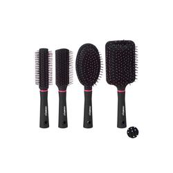 relaxdays Haarbürsten-Set Haarbürste 4er Set