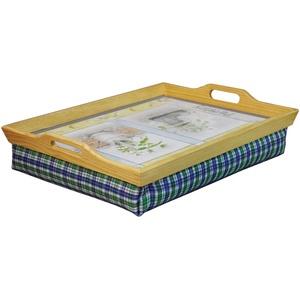 St Helens Knietablett aus Holz mit Kissen – Kräutergarten Design