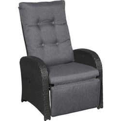 2x Garten Jorl Lounge Gartenstuhl Polyrattan Sessel verstellbar Stuhl Liegestuhl