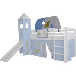 Tunnel Dinosauerier für Hochbett Höhle Etagenbett Spielbett Kinderbett Bettdach