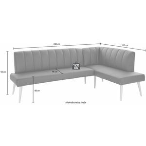 exxpo - sofa fashion Eckbank Costa, Frei im Raum stellbar braun