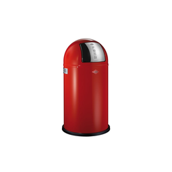 Wesco Abfalleimer Pushboy in rot, 50 l