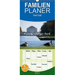 Nymphenburger Park - Familienplaner hoch (Wandkalender 2021 , 21 cm x 45 cm, hoch)