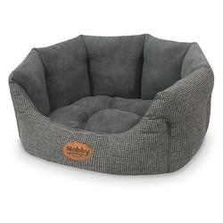 Nobby Hundebett oval Josi grau, Maße: 65 x 57 x 22 cm