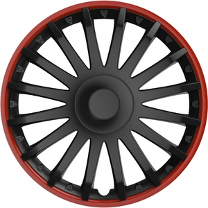 Radzierblenden-Set 10563 Almeria in sportlicher Alufelgen-Optik schwarz/rot, 4-teilig, 35,56 cm ( 14 Zoll ) 4er Set