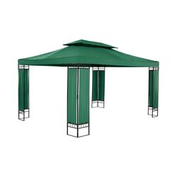 Uniprodo Garden Pavilion - 3 x 4 m - 160 g/m² - dark green UNI_PERGOLA_3X4GF