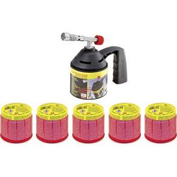 Rothenberger Industrial Lötlampenset inkl. 5 Gaskartuschen Lötlampe
