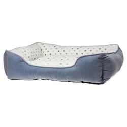 Karlie Hundebett Dot grau-blau, Maße: 65 x 60 cm