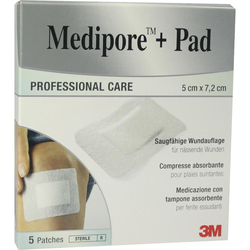 Medipore+Pad 3M 5x7,2cm 3562np Pflaster