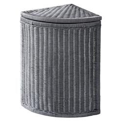 Wäschekorb aus Rattangeflecht grau ca. 55/34/34 cm