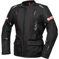 IXS Lorin-ST Motorrad Textiljacke, schwarz-rot, Größe 2XL