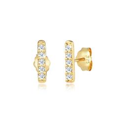 Ohrringe Stecker Stab Geo Diamant (0.15 Ct.) 375 Gelbgold DIAMORE Gold