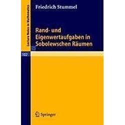 Rand- und Eigenwertaufgaben in Sobolewschen Räumen. Friedrich Stummel  - Buch