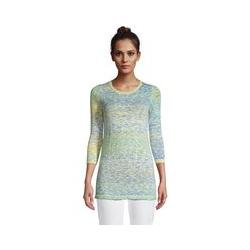 Pullover aus Baumwollmix, Damen, Größe: M Normal, Gelb, by Lands' End, Gelb Zitrone Space Dye - M - Gelb Zitrone Space Dye