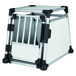 Trixie Hundebox Alubox Autobox für Hunde, M: Breite 55 × Höhe 62 × Tiefe 78 cm