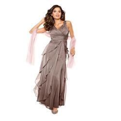 PATRIZIA DINI by Heine Abendkleid Abendkleid braun 46