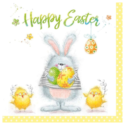 Linoows Papierserviette 20 Servietten, Ostern Frühling, Das fröhliche, Motiv Ostern Frühling
