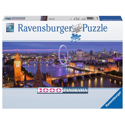 Ravensburger Puzzle Panorama - London bei Nacht, 1000 Puzzleteile, Made in Germany