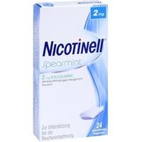 GlaxoSmithKline Nicotinell Spearmint 2 mg Kaugummi 24 St.