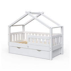 VitaliSpa® Kinderbett Design 140x70 Babybett Jugendbett 2 Schubladen Lattenrost