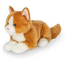 Teddy HERMANN® Katze liegend rot, 20 cm