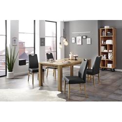 Home affaire Essgruppe Nils 9 (Set, 5-tlg Tisch 180/90 cm, 4 Polster-Stühle) beige Essgruppen Tische Sitzmöbel-Sets