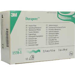 Durapore Silkpflaster 2,5 Cmx9,1 m Rolle