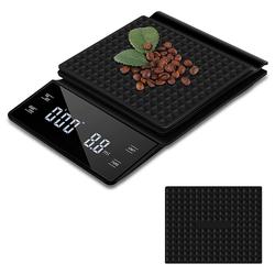kueatily Küchenwaage Kaffeewaage mit Timer, 3 kg / 0,1 g Multifunktionale Küchenwaage mit LED-Anzeige, Digitale Kaffeewaage Lebensmittelwaage zum Wiegen von Zutaten, Kaffee, Schmuck