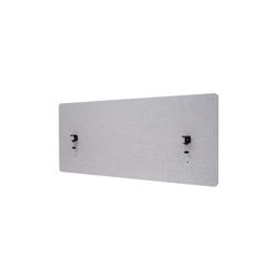 MCW Stellwand MCW-G75, Büro-Sichtschutz, Pinnwand, doppelwandig, Inkl. Anbringungen, Schalldämmend grau 60 cm x 140 cm x 2 cm