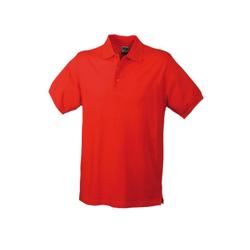 Herren Poloshirt Classic   James & Nicholson rot 3XL