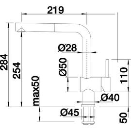 Blanco Linus-S keramikschwarz 516708
