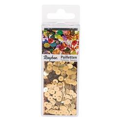 Rayher Streu-Pailletten glatt 6 mm gold 4.000 St.