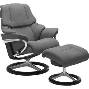 Stressless® Relaxsessel Reno, mit Signature Base, Größe S, M & L, Gestell Schwarz grau 92 cm x 110 cm x 80 cm
